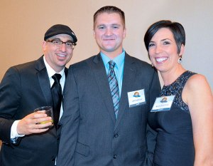 J.T. Eaton's Dale Baker, with Jeff and Nicole Zickefoose.